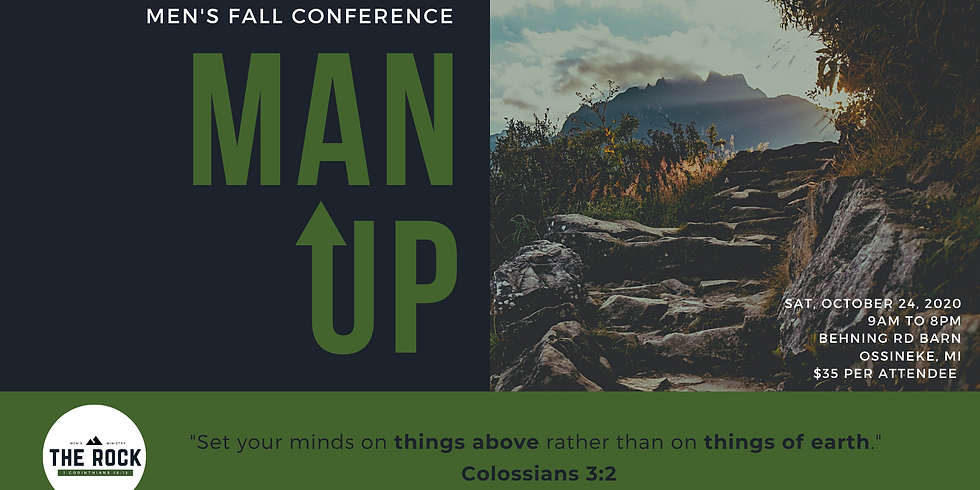 """""""Man Up"""" Men's Ministry Fall Conference"""