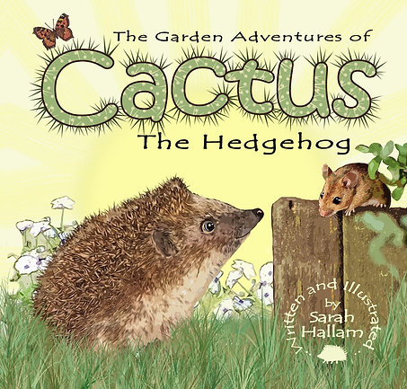 Cactus the Hedgehog signed copy with bonus sticker sheet