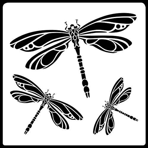 8x8 inch Dragonfly Stencil