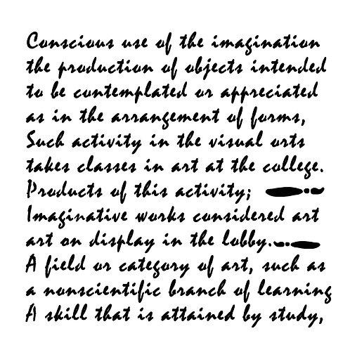 8x8 Art Definition Stencil