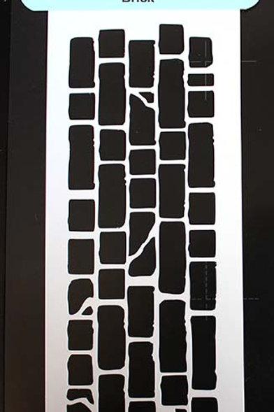 Border stencil Brick