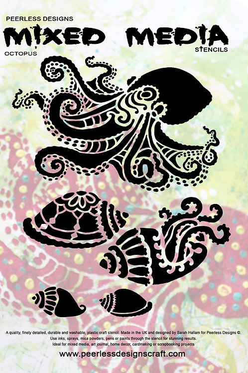 Octopus and Jelly fish stencil sets