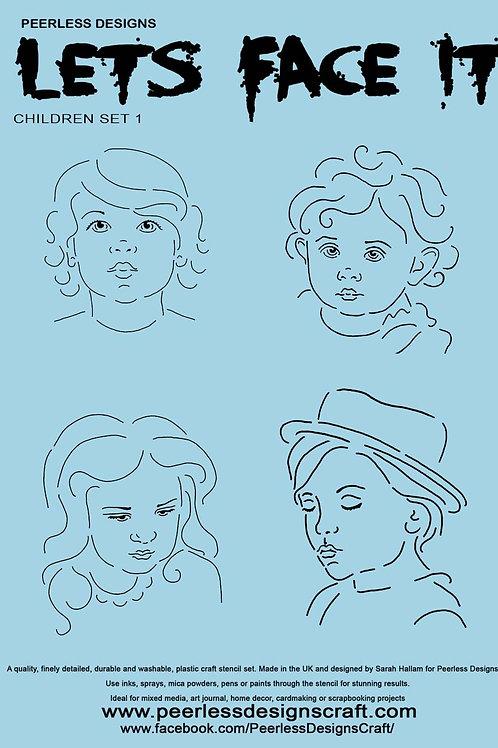 Children 1 stencil set