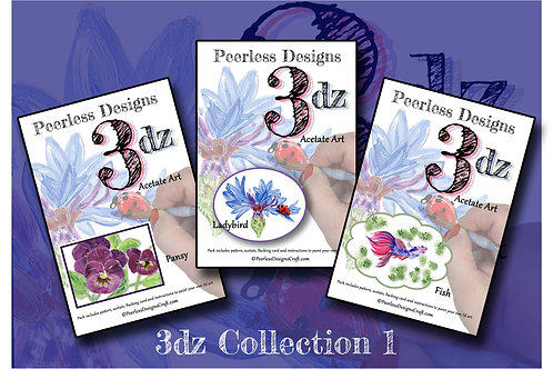 3DZ Fish / ladybird & Pansy Collection