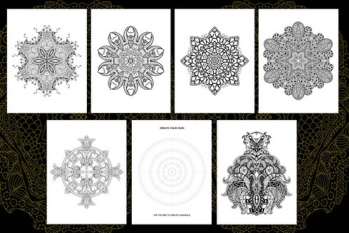 Marvelous Mandala Colouring Pages