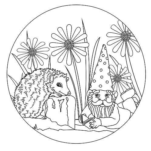 Cactus free colouring page