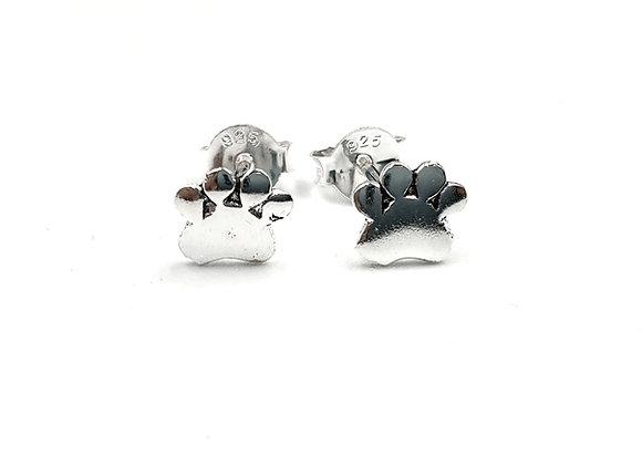 Sterling Silver Earrings, Paw, Paw Earrings, Silver paw Earrings, Silver paw Studs, Sterling Silver paw Earrings, Paw studs,