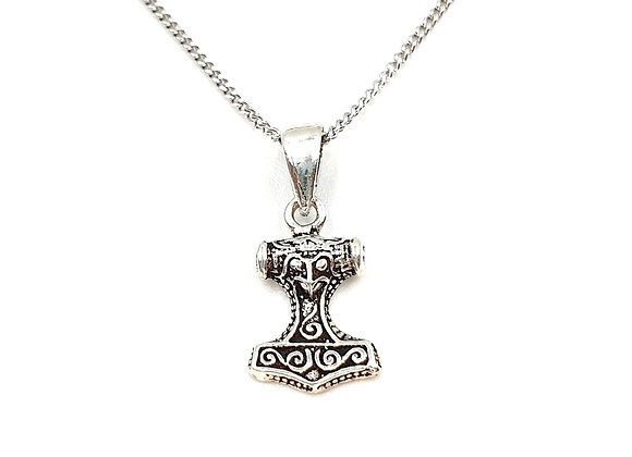 Silver Necklace, Thors, Hammer, Thors Hammer necklace, Silver Thors Hammer Necklace, Sterling Silver Thors Hammer necklace,