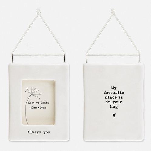 'Always you' Little Porcelain Hanging Frame