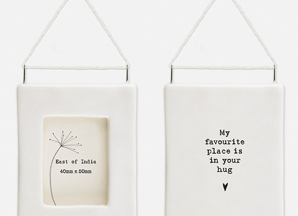 'Always you' Little Porcelain Hanging Frame