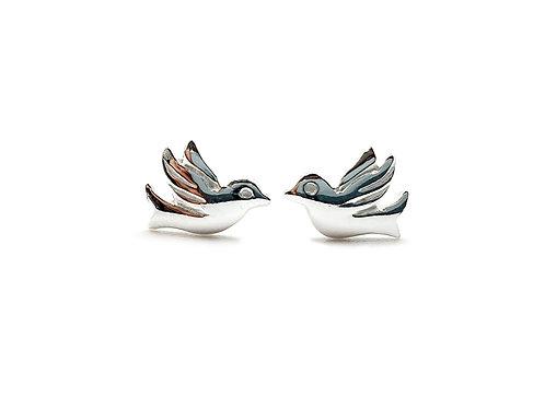 The Little Dove studs 925 Sterling Silver Stud Earrings