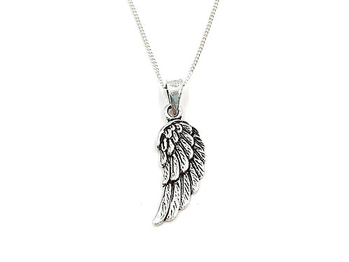 Angel, Wing, Angel Wing, Angel Wing necklace, Silver Angel Wing Necklace, Sterling Silver Angel Wing necklace,