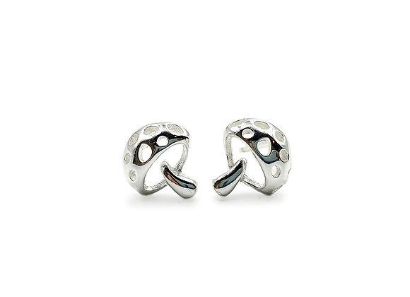 The Toadstool Mushroom 925 Sterling Silver Stud Earrings