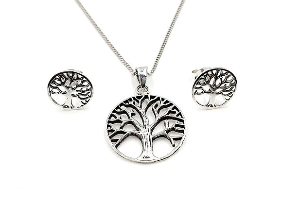 The Enchanted Tree Of Life 925 Sterling Silver Gift Set