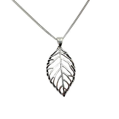 The Birch Leaf 925 Sterling Silver Necklace