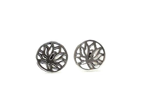Sterling Silver Earrings, Lotus, Lotus Earrings, Silver Earrings, Silver Lotus Earrings, Sterling Silver Lotus Earrings,