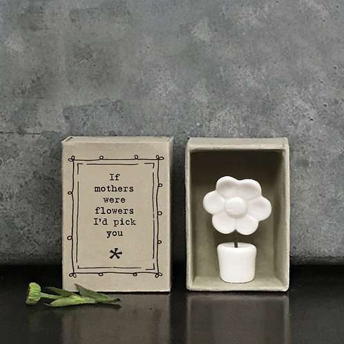 Little Matchbox Porcelain 'if Mother's were flowers' Mini Heart Figurine