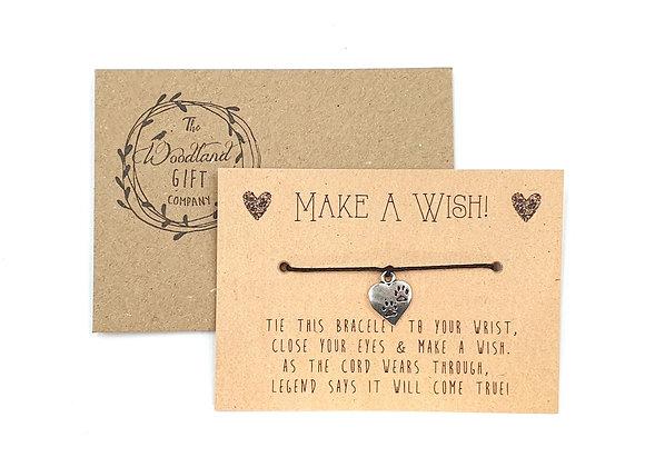 Wish Bracelets, Wish bracelet, Make a Wish bracelets, bracelet, Wedding bracelet, charity, wish, party, paw, Birthday, heart,