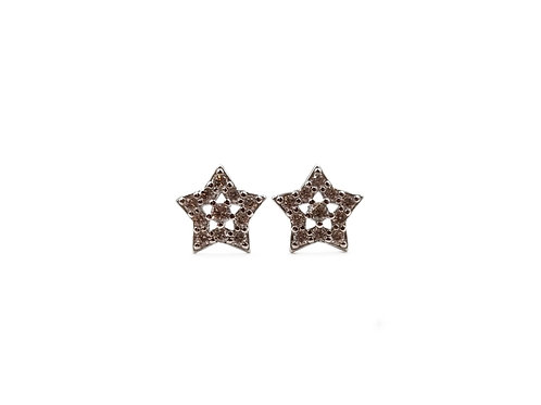 The Frosted Star 925 Sterling Silver Studs