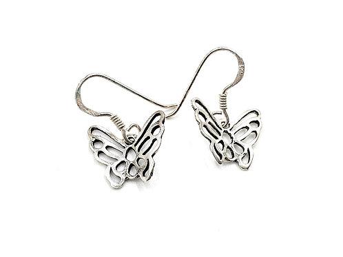 Butterfly, Butterfly Earrings, Silver Butterfly Earrings, Silver Butterfly Studs, Sterling Silver Butterfly Earrings, studs,