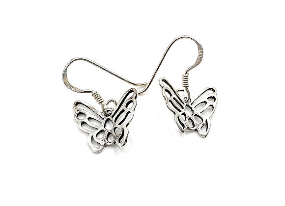 Butterfly, Butterfly Earrings, Silver Butterfly Earrings, Silver Butterfly Studs, Sterling Silver Butterfly Earrings, studs,