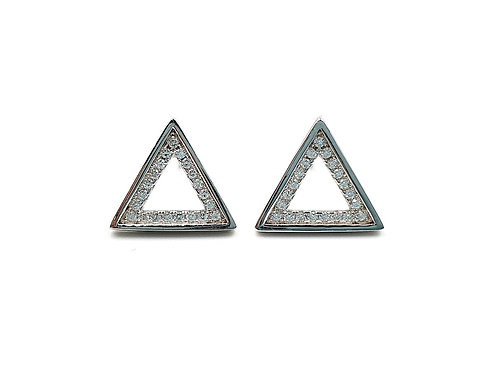 Triangle, Triangle Earrings, Silver Triangle Earrings, Silver Triangle Studs, Sterling Silver Triangle Earrings,