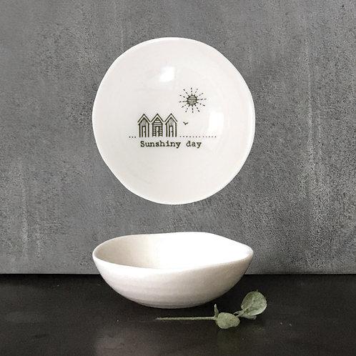 Small Porcelain 'Sunshiny day' Trinket Dish