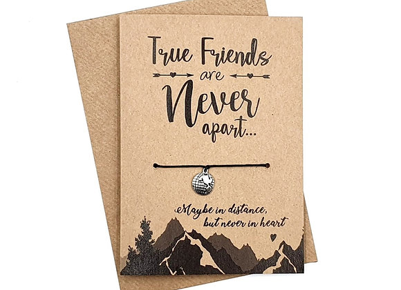 True Friends Are Never Apart - Wish Bracelet Greeting Card A6