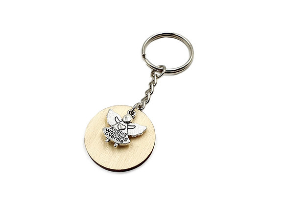 The Watching Angel Key Ring