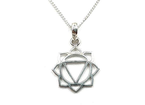 Chakra, Mandala, Chakra necklace, Mandala Necklace, Silver Chakra Necklace, Sterling Silver Chakra Necklace, Silver Mandala,