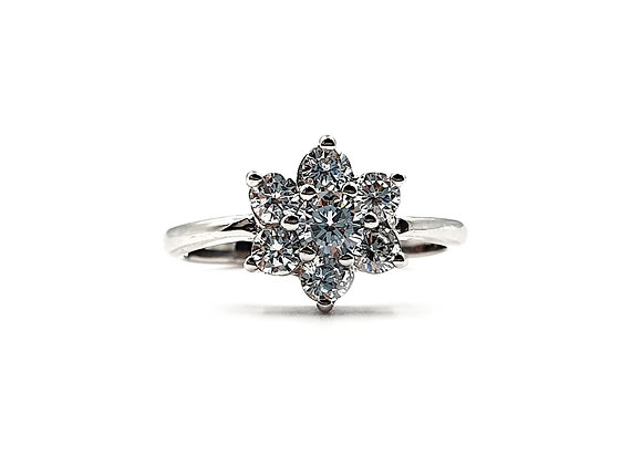 The Frosted Flower 925 Sterling Silver Ring