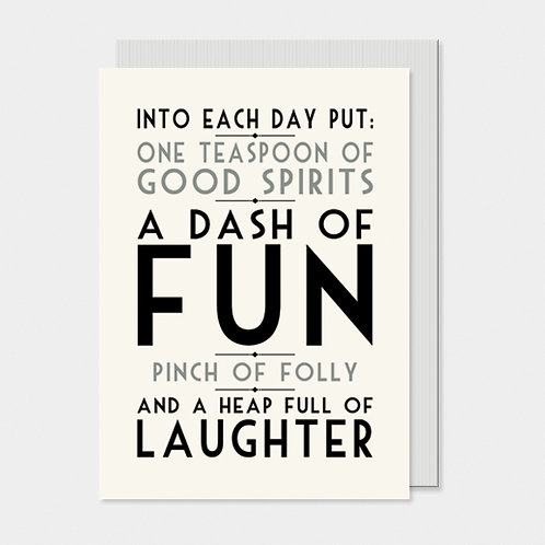 Into Each Day Greeting Card A6