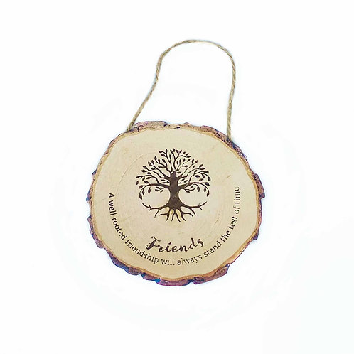 Wooden 'Friends' Printed MDF Hanging Sign