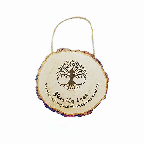 Wooden 'Family' Printed MDF Hanging Sign