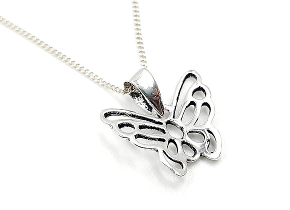 Silver Necklace, Butterfly, Butterfly necklace, Silver Butterfly Necklace, Sterling Silver Butterfly necklace, Enchanted,