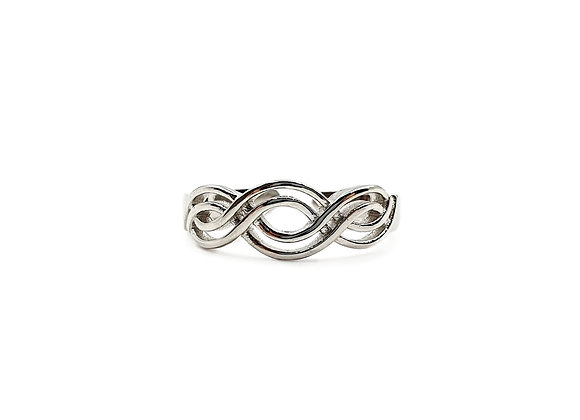 The Waves of Time 925 Sterling Silver Ring