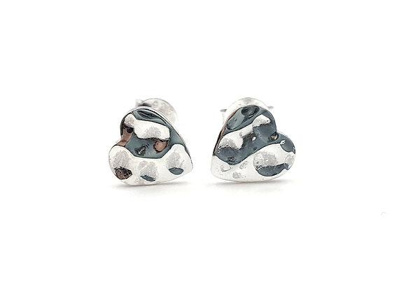 Sterling Silver Earrings, Heart, Heart Earrings, Silver Heart Earrings, Silver Heart Studs, Sterling Silver Heart Earrings,