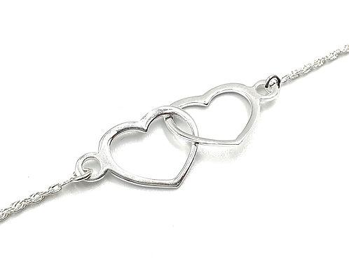 Heart, Bracelet, Heart Bracelet, Silver Heart Bracelet, Sterling Silver Heart Bracelet, Heart Bracelets, sterling silver,