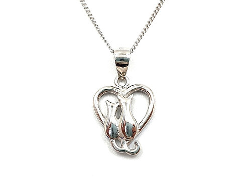 The Cat & Kitten 925 Sterling Silver Necklace