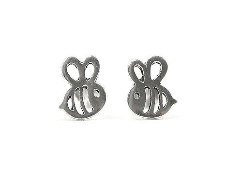 Sterling Silver Earrings, Bee Studs, Bee Earrings, Silver Earrings, Silver Bee Studs, Sterling Silver Bee Earrings, Bee,