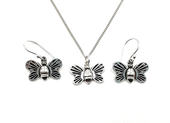 The Enchanted Bee Gift Set 925 Sterling Silver