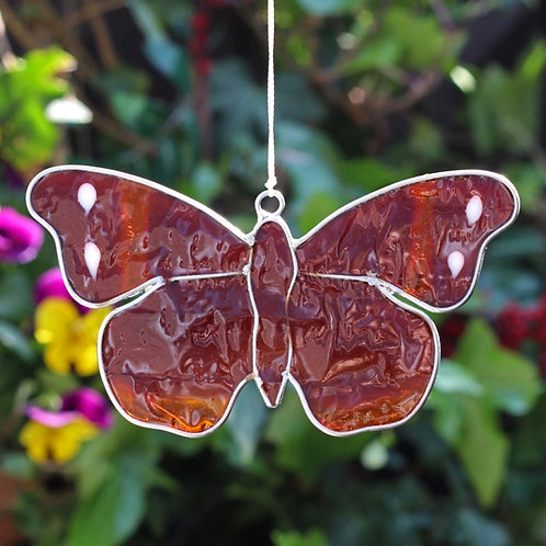 Red Admiral Butterfly Hanging Suncatcher