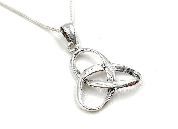 knot, unity, unity knot, unity knot necklace, Silver unity knot Necklace, Sterling Silver unity knot necklace, necklace,