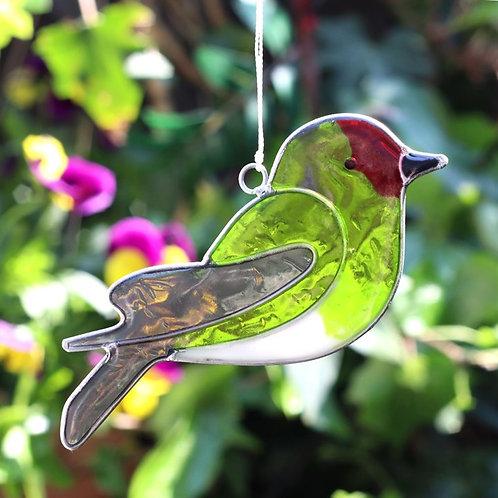 Goldfinch Bird Hanging Suncatcher