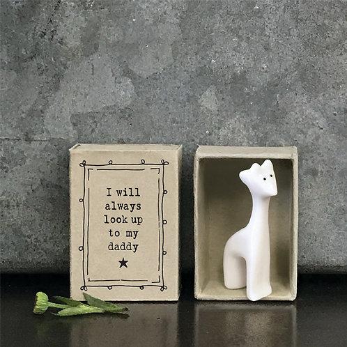 Little Matchbox Porcelain Giraffe Dad Mini Figurine
