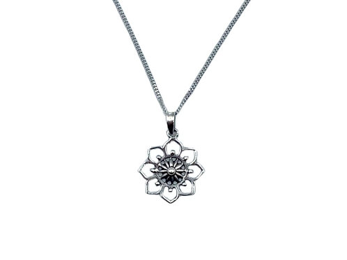 The Midnight Mandala 925 Sterling Silver Necklace