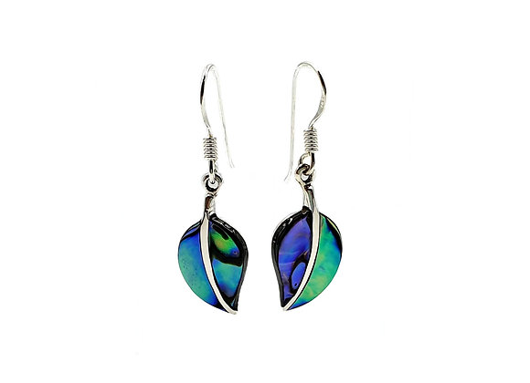 The Abalone Shell Leaf 925 Sterling Silver Drop Earrings