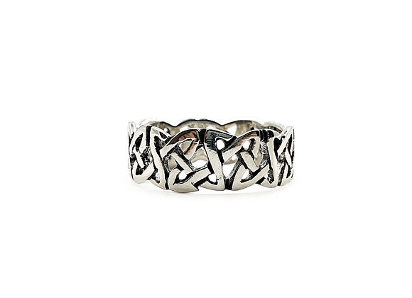 The Celtic Knot Band Ring 925 Sterling Silver Ring
