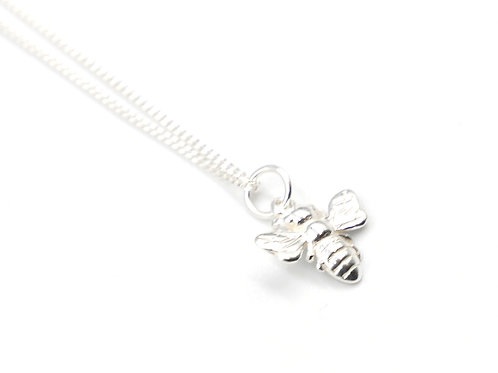 Silver Necklace, Bee, Bee necklace, Silver Bee Necklace, Sterling Silver Bee necklace,  Silver bee, Sterling Silver Bee,