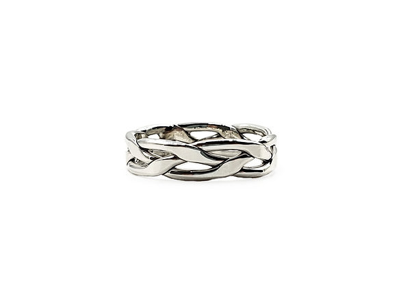 The Plait of Unity 925 Sterling Silver Ring